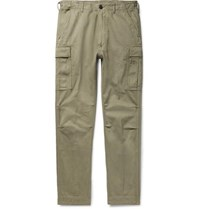 Tom Ford Slim Fit Cotton Twill Cargo Trousers Sage Green