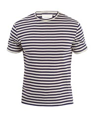 Solid And Striped The Tee Cotton Blend T Shirt Navy Multi