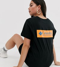 Columbia North Cascades T Shirt In Black With Orange Back Print
