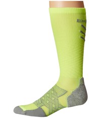 Thorlos Experia Energy Over The Calf Single Pair Electric Yellow Crew Cut Socks Shoes