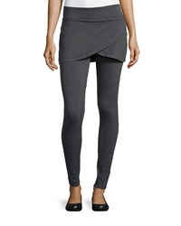 Marc Ny Performance Tulip Skirted Leggings Charcoal Heather