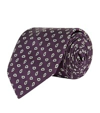 Polo Ralph Lauren Silk Print Tie Purple
