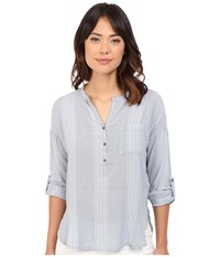 Mavi Jeans Pocket Blouse Skyway Women's Blouse Blue