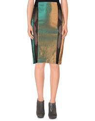 Dv Roma Skirts Knee Length Skirts Women Green