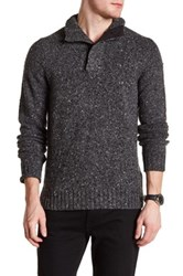 Bonobos Mock Neck Wool Slim Fit Sweater Gray