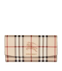 Burberry Shoes And Accessories Porter Check Wallet Female Tan