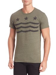 Sol Angeles Star Waves Crewneck Tee Military