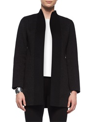 Eileen Fisher Double Faced Brushed Wool Coat