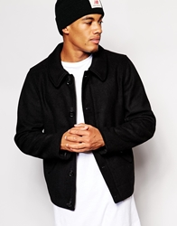 Asos Wool Harrington Black