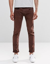 Replay Anbass Slim Jeans In Red Mahogany Red Mahogany