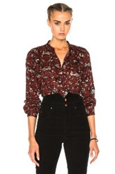 Etoile Isabel Marant Amaria Rasta Flower Blouse In Red Floral Red Floral