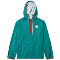 Acne Studios Osaze Face Half Zip Jacket Green