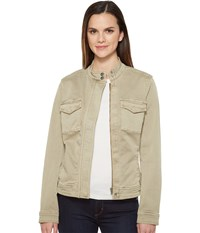 Liverpool Anorak Shirt Jacket In Stretch Peached Twill Pure Cashmere Women's Coat Gray