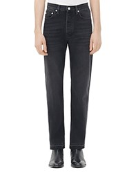 Sandro Paint Curtis Straight Jeans In Noir
