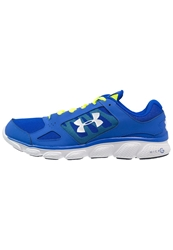 Under Armour Assert V Lightweight Running Shoes Royal High Vision Yellow White Blue