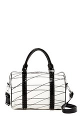 L.A.M.B. Josie Leather Satchel Bag White
