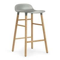 Normann Copenhagen Form Barstool Oak Grey