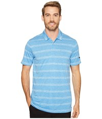 Puma Pounce Stripe Polo Cresting French Blue Men's Short Sleeve Knit