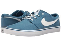 Nike Portmore Ii Solar Canvas Print Industrial Blue White Black Men's Skate Shoes
