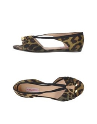 Mysuelly Ballet Flats Military Green
