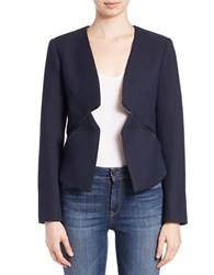 French Connection Open Front Cropped Blazer Blue