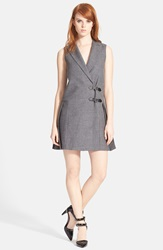 Marc By Marc Jacobs Tuxedo Pinafore Dress Shadow Grey Melange
