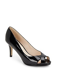 Cole Haan Lena Patent Leather Peep Toe Pumps