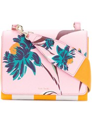 Paul Smith Pacific Rose Print Cross Body Bag Pink And Purple