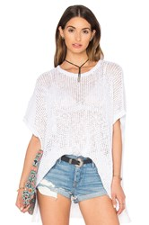 James Perse Open Stitch Poncho Top White