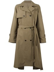System Classic Trench Coat Green