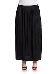 Joan Vass Sizes 14 24 Accordion Pleat Maxi Skirt Black