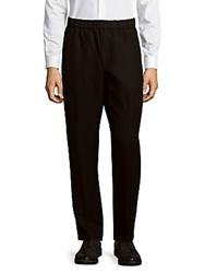 Vince Solid Linen Blend Pants Black