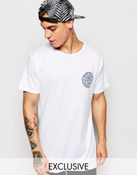 Exclusive To Asos Zee Gee Why T Shirt Rookie Miami Beach Frisbee Club Back Print Crispywhite