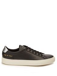 Common Projects Retro Achilles Low Top Leather Trainers Black Silver