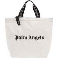 Palm Angels White And Black Classic Tote