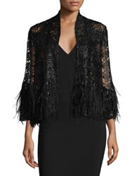 Alberto Makali Feather And Sequin Jacket Black