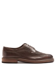 Fratelli Rossetti Woven Leather Brogues Brown