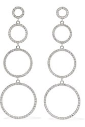 Ileana Makri Twiggy 18 Karat White Gold Diamond Earrings One Size