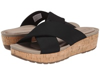 Rockport Land Boulevard Cross Slide Flatform Sandal Black Stretch Women's Sandals