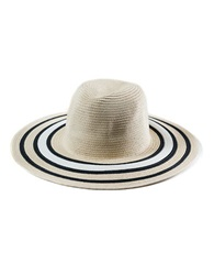 T And C Theodora And Callum Striped Floppy Hat Natural