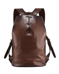 Berluti Alessandro Vitello Side Zip Backpack Brown