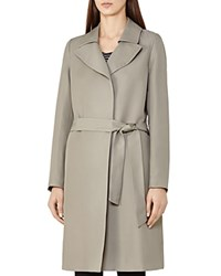 Reiss Dafne Mac Wrap Trench Coat Stone