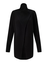 Jigsaw Ring Fastening Pique Cardigan Black