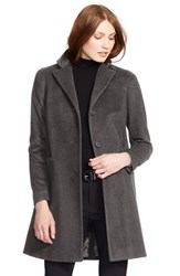 Lauren Ralph Lauren Wool Blend Reefer Coat Alaskan Grey