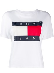 Tommy Jeans Printed Logo T Shirt White