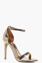 Boohoo Rose Gold Two Part Heel Rose Gold