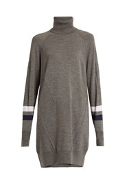 Lndr Dux Roll Neck Wool Blend Performance Sweater Grey
