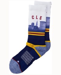 Strideline Cleveland City Socks Ii White Navy