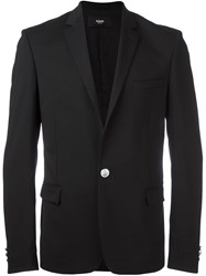 Versus One Button Blazer Black