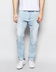 Jack And Jones Jack And Jones Light Wash Jeans In Anti Fit Blue